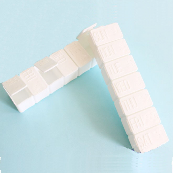Pilulier de ménage 7 jours en Plastique