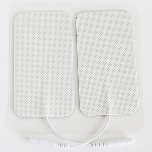 Electrode Pads Tens Physiothérapie avec Fiche, Type rectangle.png