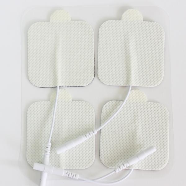 Electrode Pads Tens Physiothérapie avec Fiche, Type carré avec oreille.png
