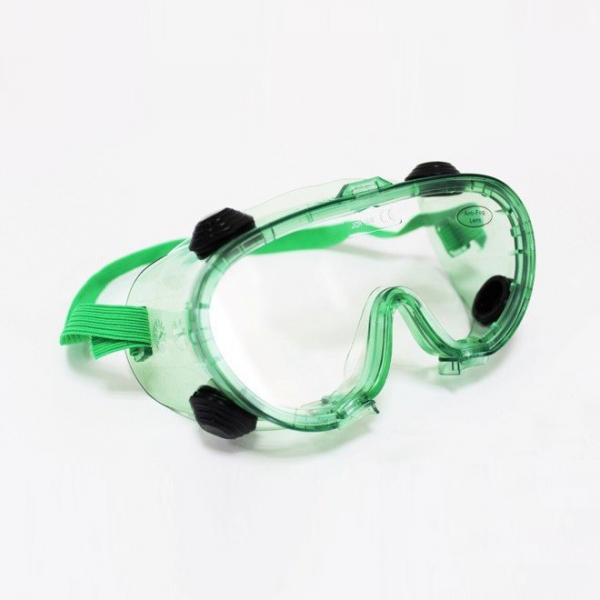 Lunette de sécurité verte à 4 évents (protection des yeux).png