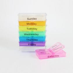 Pilulier Hebdomadaire en Plastique Colorée