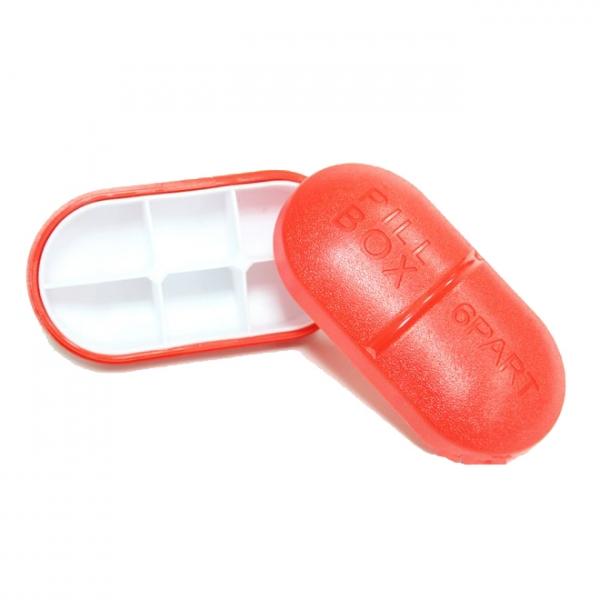 Pilulier 6 compartiments