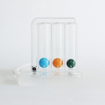 Spiromètre Incitatif à 3 Boules pour Exercice Respiratoire